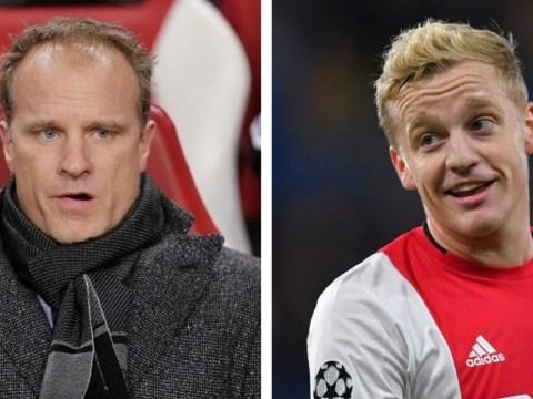 What Arsenal hero Dennis Bergkamp 'keeps telling' new Manchester United signing Donny van de Beek