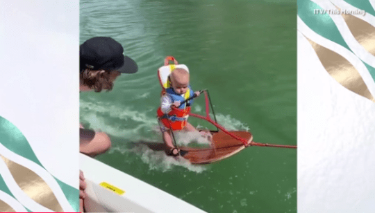 Water-skiing baby