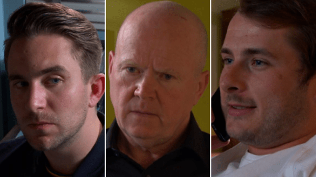 Callum, Ben and Phil in EastEnders