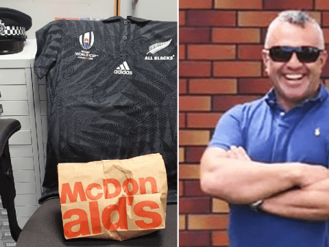 McDonald's breakfast left in seat where murdered sergeant should be sitting