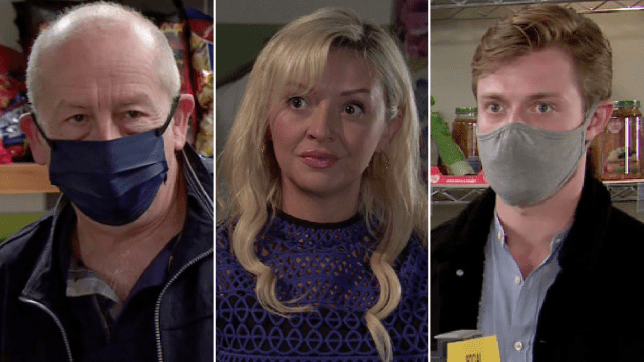 Geoff, Nicky and Daniel in Coronation Street