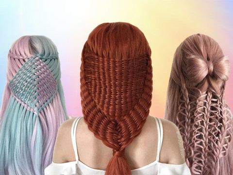 Teenager creates the most amazingly intricate hairstyles