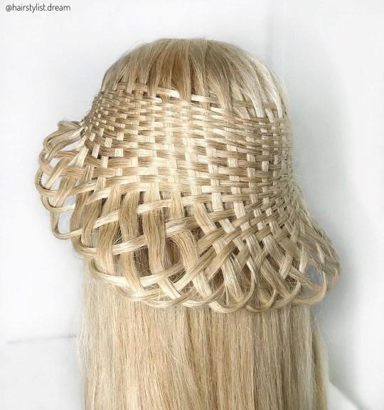 Braids on blonde wig
