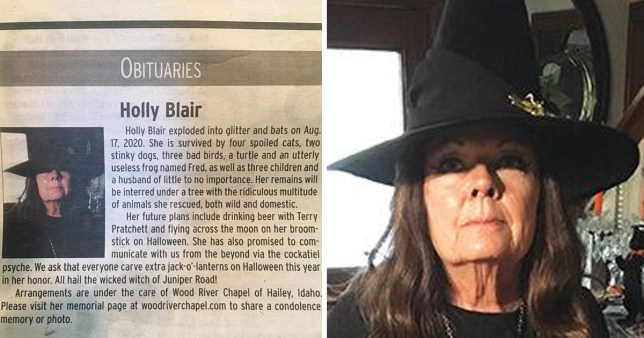 holly blair's witchy obituary