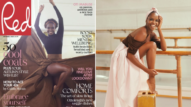 Oti Mabuse on Red cover