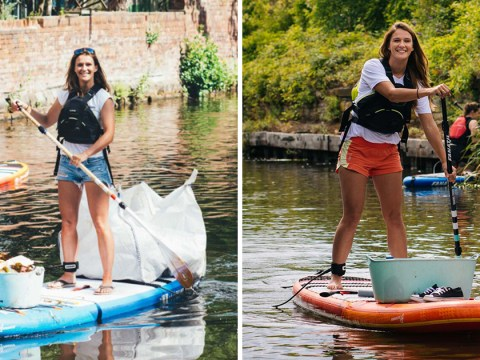 Campaigner paddleboards around the UK picking up plastic pollution – and starts a global movement