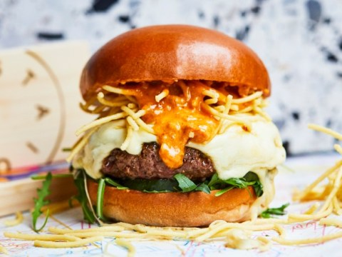 You can now get a deep-fried spaghetti burger at Honest Burgers