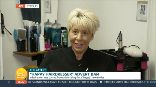 Good Morning Britain hairdresser (Picture: ITV)