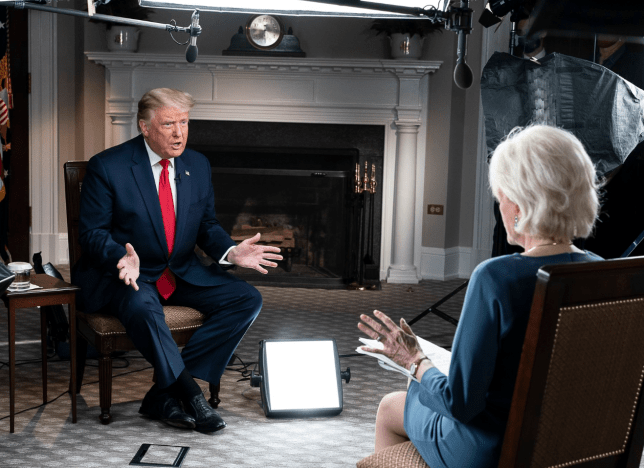 Donald Trump and Leslie Stahl