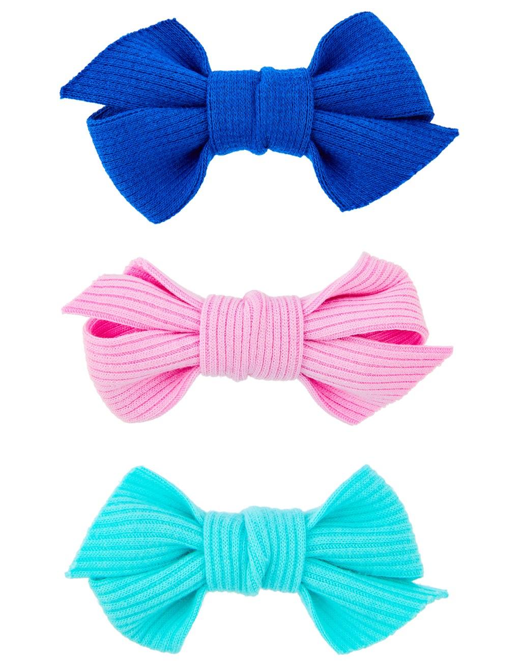 Accessorize soft bow clips