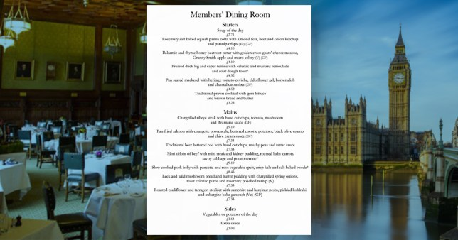 Composite image Parliament and MPs menu
