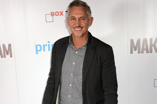 Gary Lineker on the red carpet