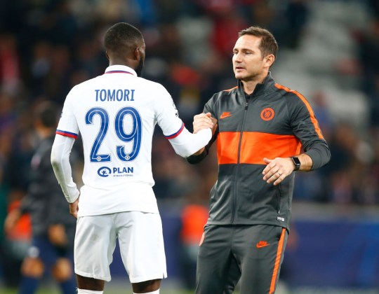 Tomori with Chelsea manager Frank Lampard