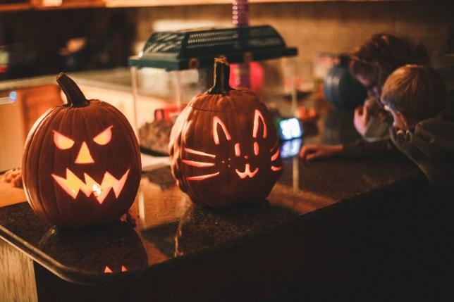 Carved Jack-o-lanterns