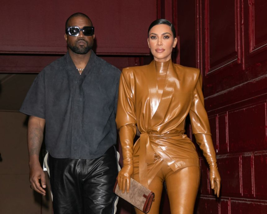 Kim Kardashian and Kanye West attend his Sunday Service At Theatre Des Bouffes Du Nord