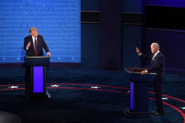 First Presidential Debate Between Donald Trump And Democratic Candidate Joe Biden.