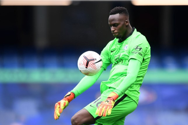 Edouard Mendy kept a clean sheet on his Premier League debut for Chelsea