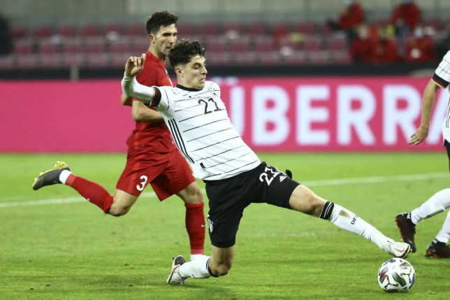 Chelsea summer signing Kai Havertz in action for Germany against Turkey