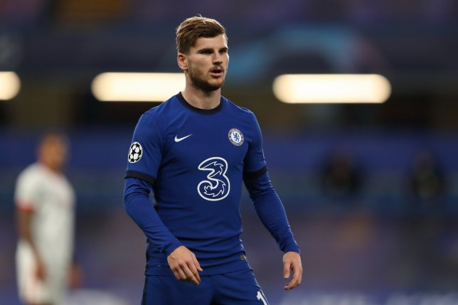 Timo Werner looks on during Chelsea's Champions League clash with Sevilla