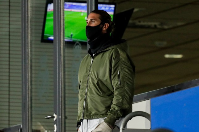 Sergio Ramos looks on as Real Madrid take on Shakhtar Donetsk in the Champions League