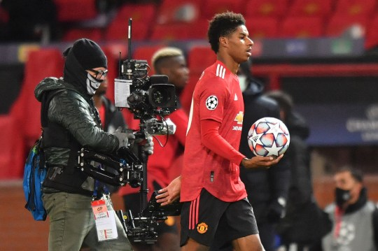 Rashford took home the match ball after his first ever professional hat-trick