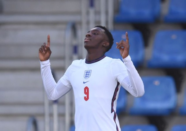 Eddie Nketiah scored in England Under-21s 3-3 draw against Andorra