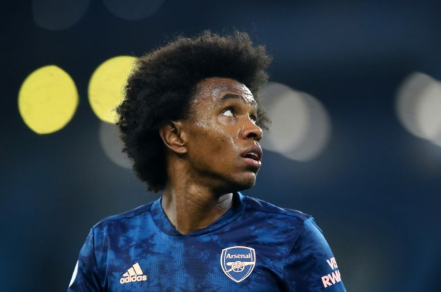 Mikel Arteta defends Willian after Arsenal's defeat to Manchester City