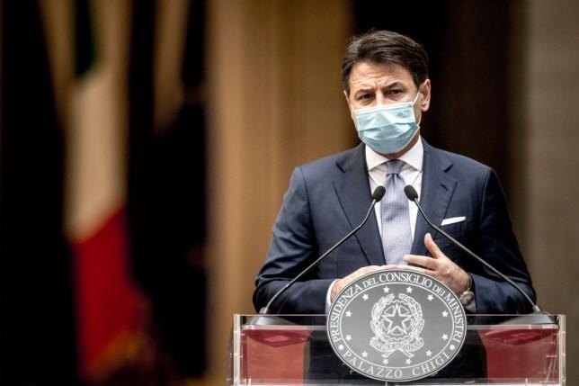 Italy's Prime Minister Giuseppe Conte .