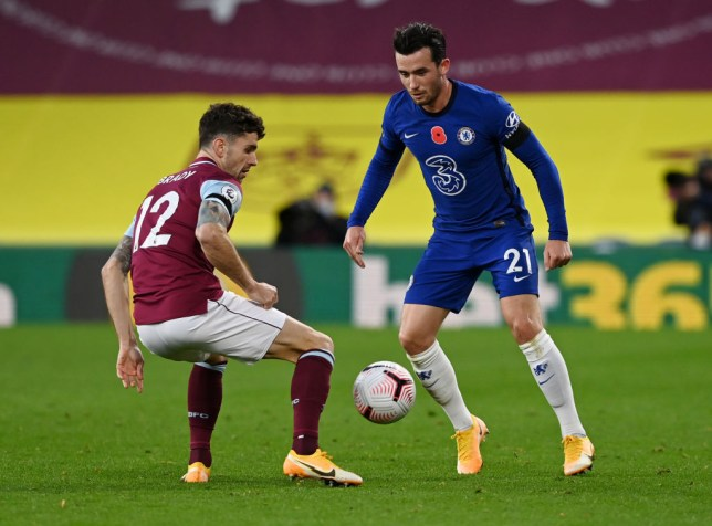 Ben Chilwell runs with the ball during Chelsea's Premier League win over Burnley