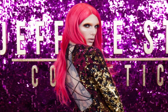 Jeffree Star at cosmetics launch