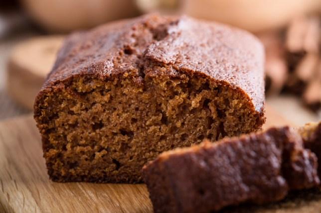 Healthy vegan freshly baked pumpkin cake
