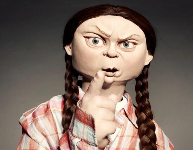 Greta Thunberg on Spitting Image