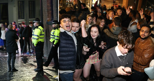 People out in Liverpool before new restrictions come into place
