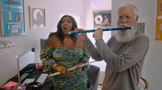 David letterman and lizzo