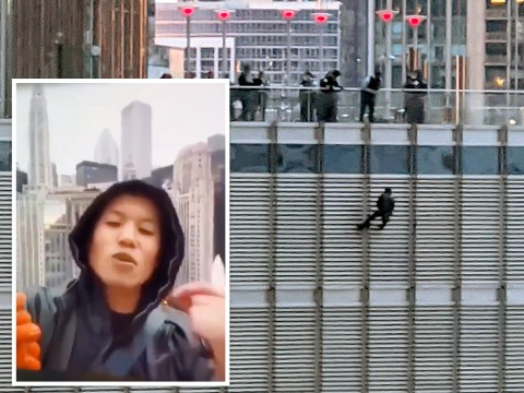 Protester dangling from Trump Tower 'demanding to speak to President' arrested