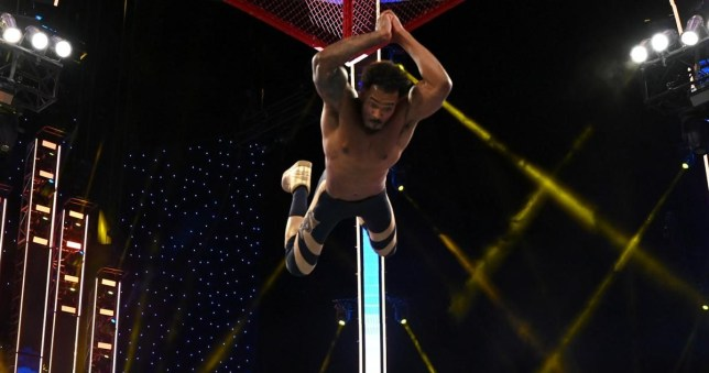 WWE Street Profits superstar Montez Ford hits the Frog Splash