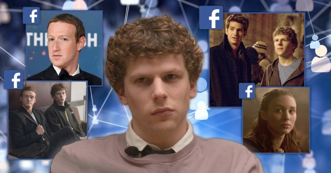 Scenes from The Social Network with Jesse Eisenberg.