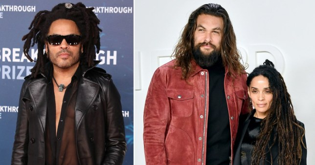 Lenny Kravitz is tight with Jason Momoa and Lisa Bonet