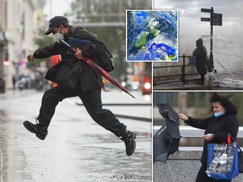 UK lashed by heavy rain and powerful winds all weekend as Storm Alex hits