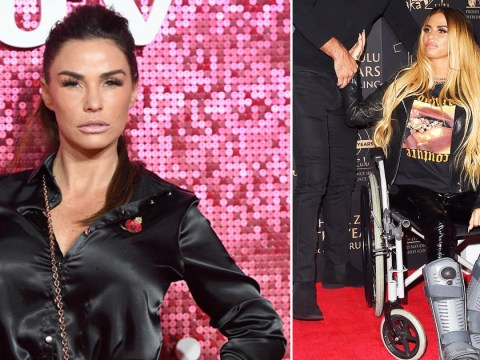 Katie Price 'in wheelchair for another six months' as she continues recovery after breaking both of her feet