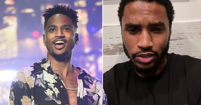 Trey Songz pictured on stage and in home video