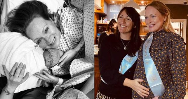Michelle Hardwick gives birth