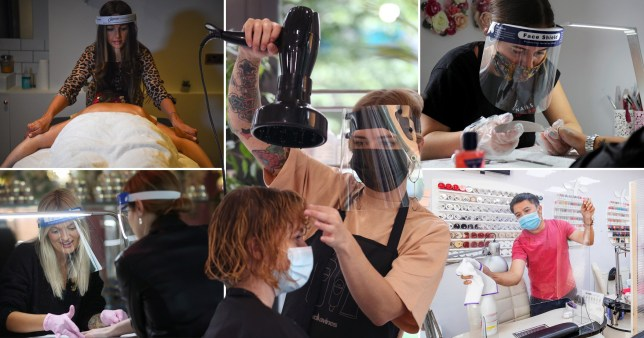 Composite image hairdressers