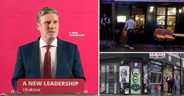 Keir Starmer speaking at a press conference