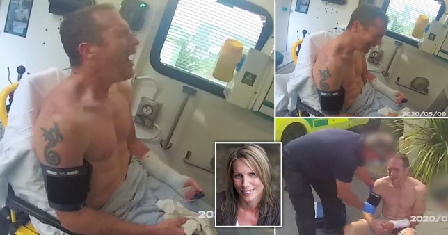 Married PC filmed sobbing in ambulance ?after strangling lover?