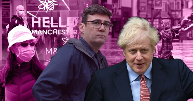 Boris Johnson is set to plunge Manchester into tier three lockdown despite Andy Burnham's calls for financial backing.