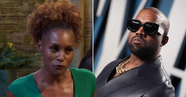 Issa Rae and Kanye West