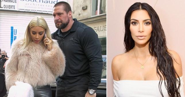 Kim Kardashian and bodyguard