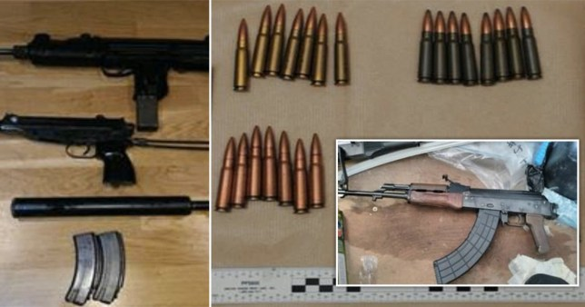 Guns intercepted by police in the operation