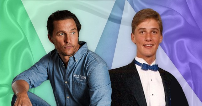 Matthew McConaughey now and when he was younger